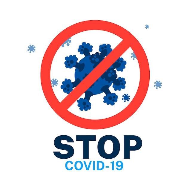 コロナウイルスの概念を止める 無料ベクター