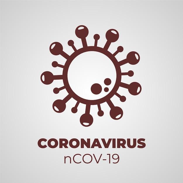 Коронавирусный дизайн логотипа Бесплатные векторы