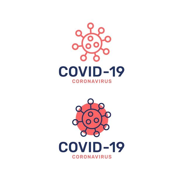Коронавирусный стиль логотипа Бесплатные векторы