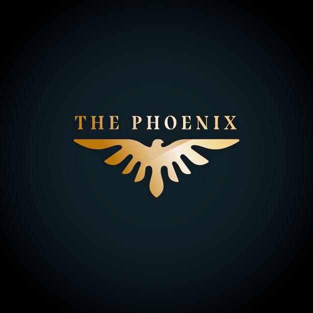 Феникс логотип дизайн шаблона Бесплатные векторы