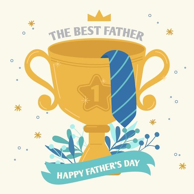 最高の父ゴールデンカップ賞 無料ベクター