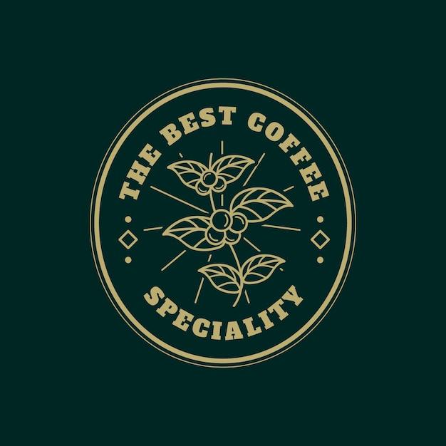 コーヒービジネスのロゴのテンプレート 無料ベクター