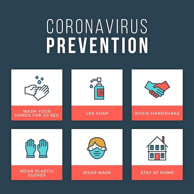 Концепция инфографики профилактики коронавируса Бесплатные векторы