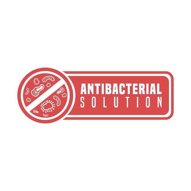 Антибактериальная формула раствора остановить бактерии Бесплатные векторы