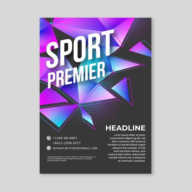 Шаблон спортивного плаката Бесплатные векторы