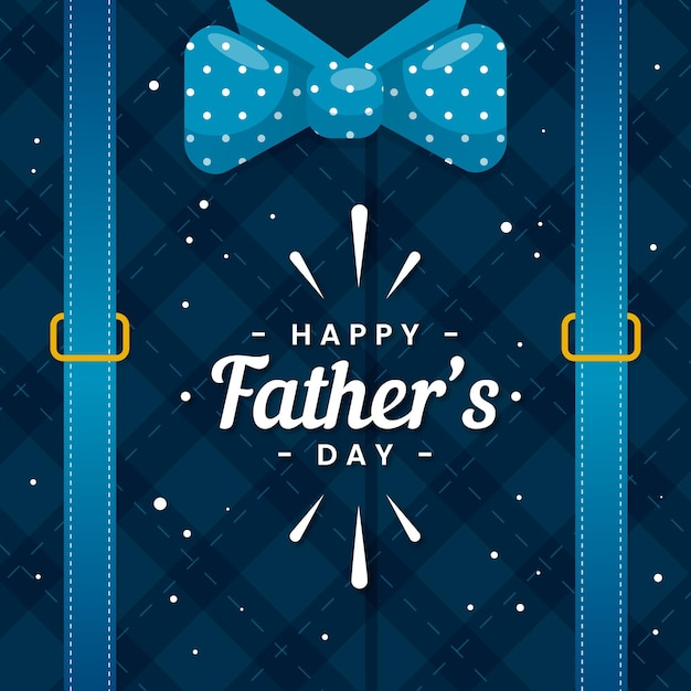 Счастливый день отцов с бабочкой Бесплатные векторы