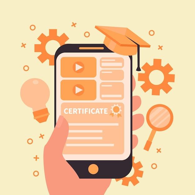 Концепция онлайн-курсов Бесплатные векторы