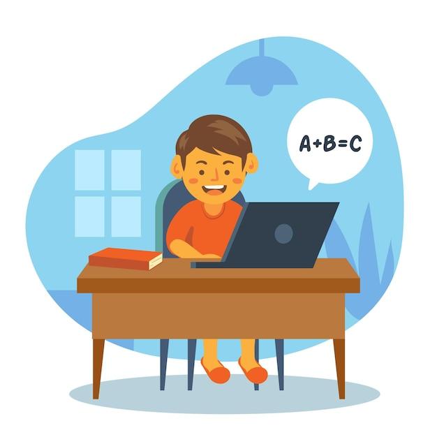 Детские онлайн уроки Бесплатные векторы