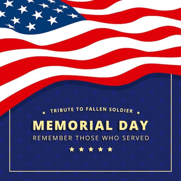 記念日フラットデザイン米国旗の背景 無料ベクター