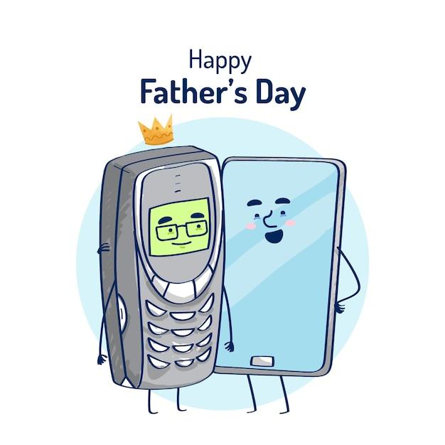 Дизайн иллюстрации дня отцов Бесплатные векторы