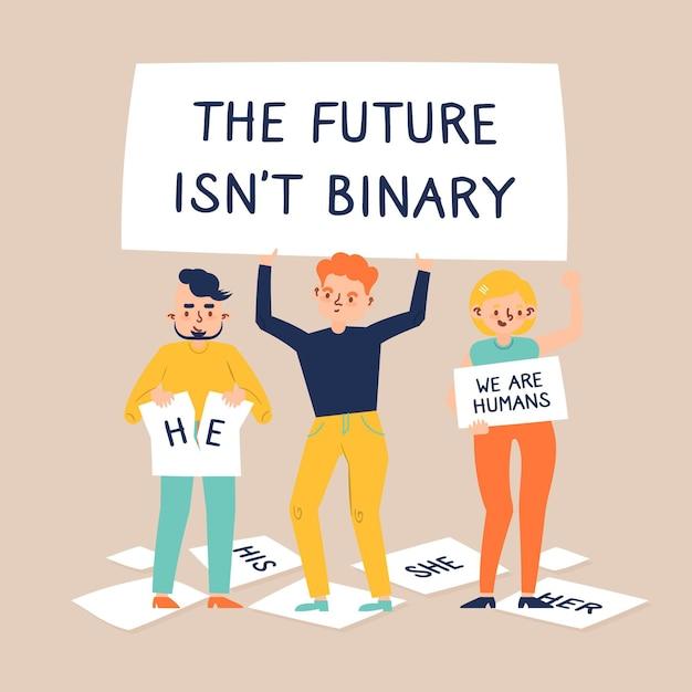 未来はバイナリの概念ではない 無料ベクター
