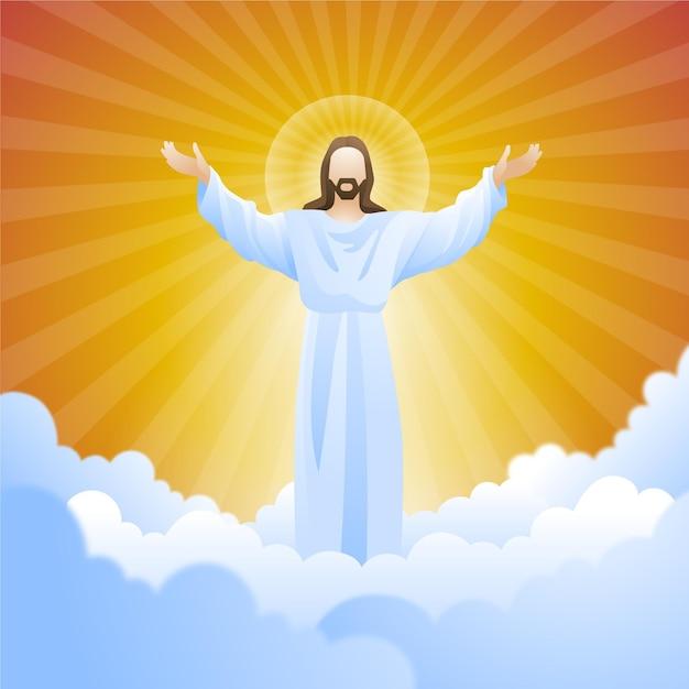 Вознесенский день воскресения сына бога Бесплатные векторы