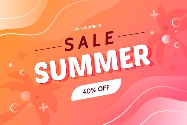 Мы открыли распродажу летнего фона Бесплатные векторы