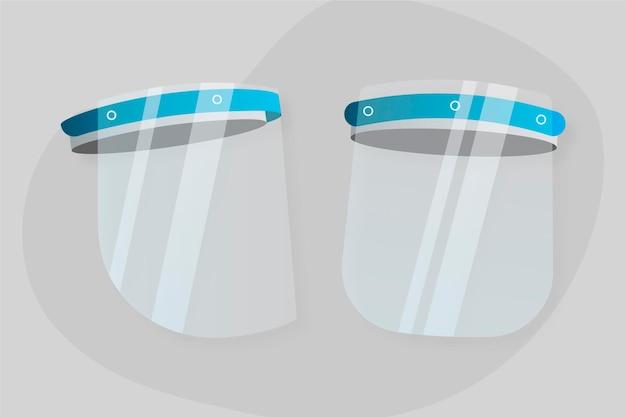 リアルなプラスチック製フェイスシールド 無料ベクター