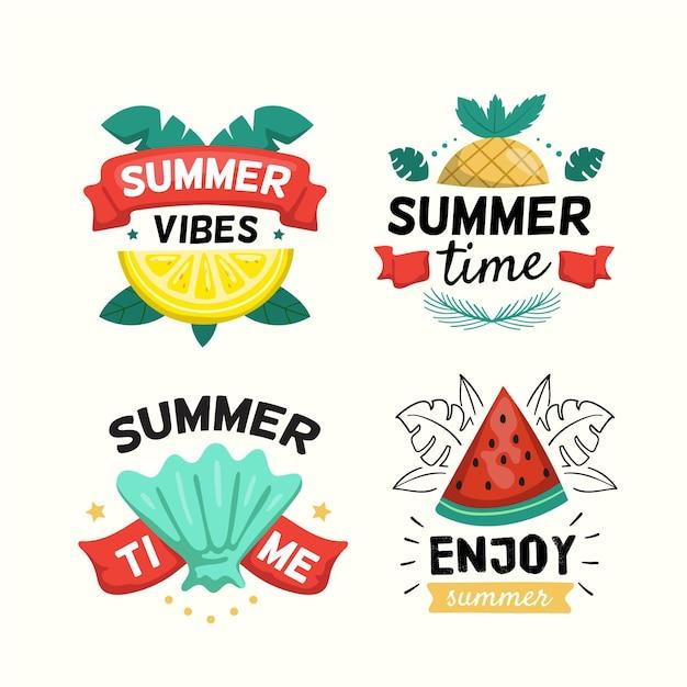 Пакет летних значков Бесплатные векторы