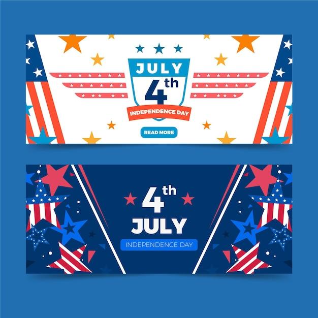 День независимости баннеры тема Бесплатные векторы
