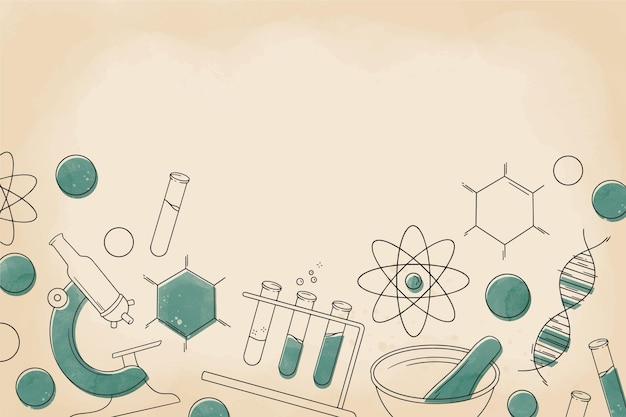 ヴィンテージ科学の背景 無料ベクター