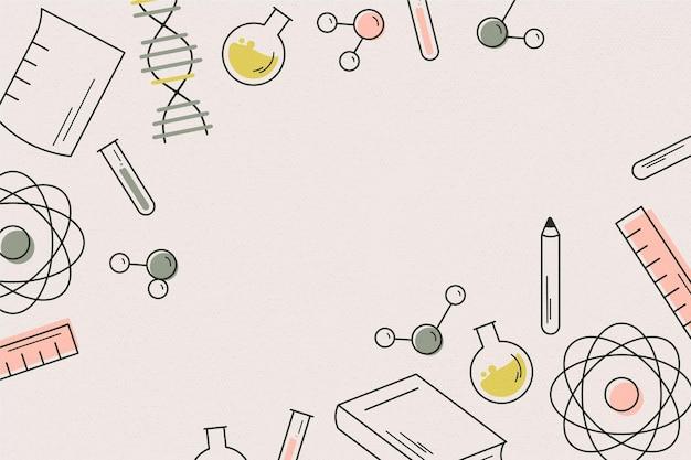 レトロな科学の壁紙 無料ベクター
