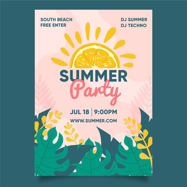 Розыгрыш летней вечеринки Бесплатные векторы