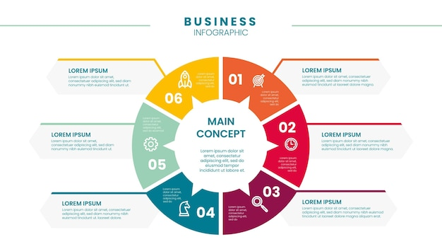 Инфографический бизнес Бесплатные векторы