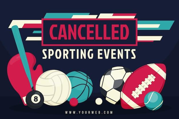 キャンセルされたスポーツイベント-背景 無料ベクター