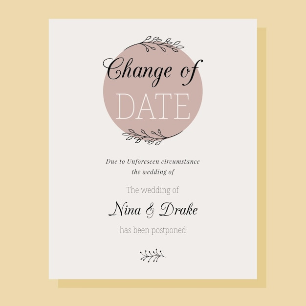 Ручной обращается отложенная свадебная открытка Бесплатные векторы