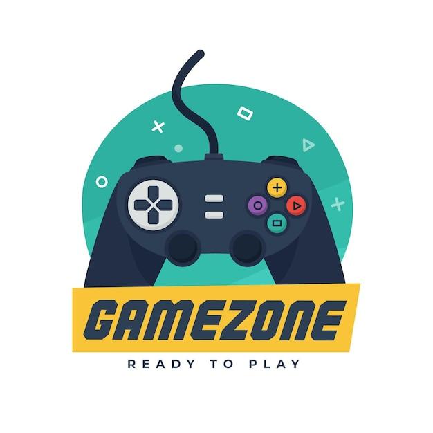 創造的なカラフルなゲームのロゴ 無料ベクター