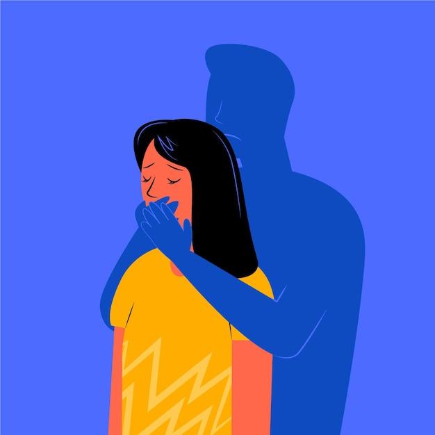 Концепция гендерного насилия Бесплатные векторы