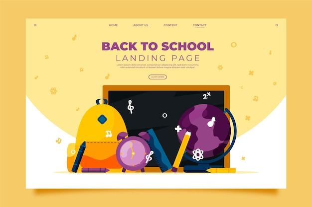 Вернуться к дизайну целевой страницы школы Бесплатные векторы