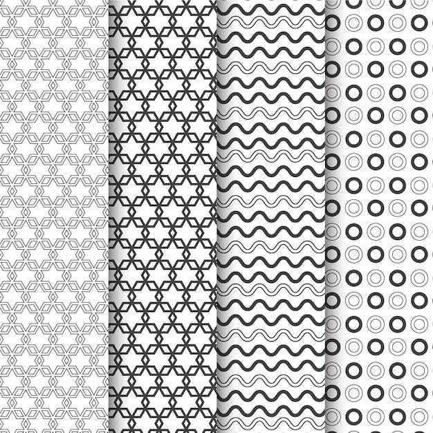 Коллекция минимальных геометрических узоров Бесплатные векторы