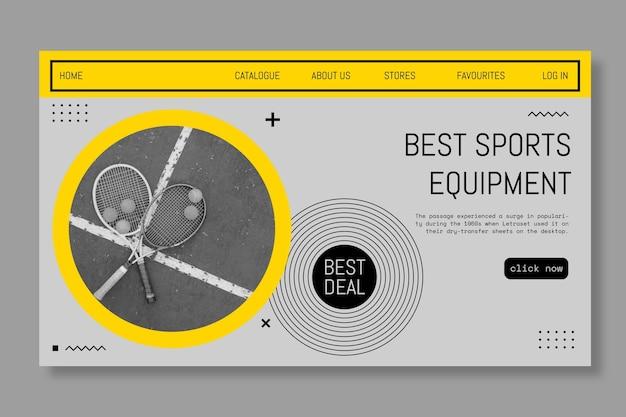 Лучший баннер спортивного инвентаря Бесплатные векторы