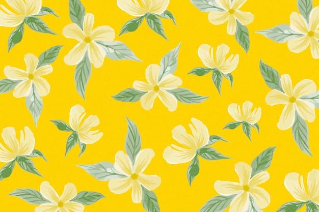 花と夏のパターンデザイン 無料ベクター