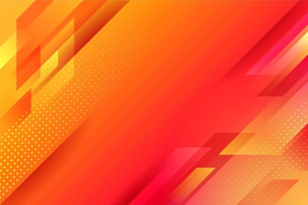 Абстрактный оранжевый геометрический фон Бесплатные векторы