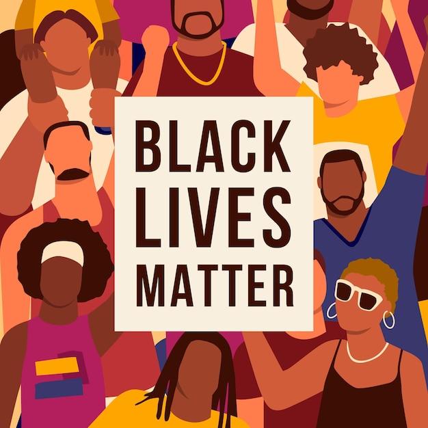 Черная жизнь имеет значение концепции Бесплатные векторы