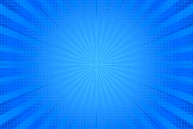 Эффект полутонов на синем фоне Бесплатные векторы