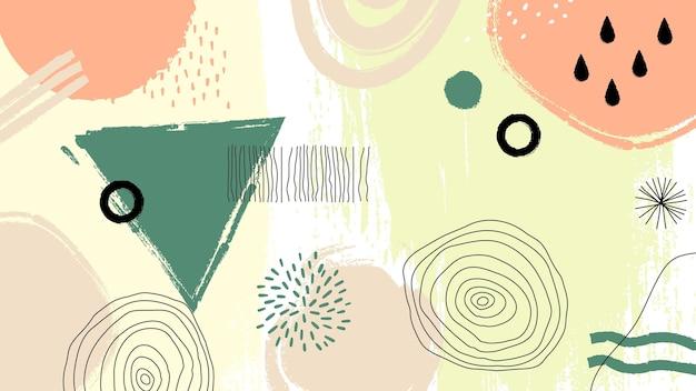 抽象的な塗られた背景 無料ベクター