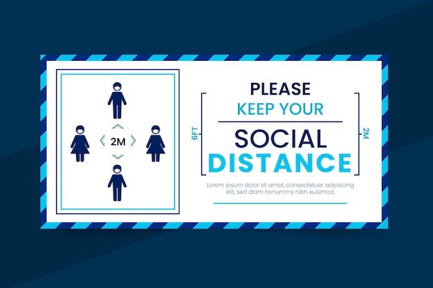 Социальная дистанция баннер Бесплатные векторы