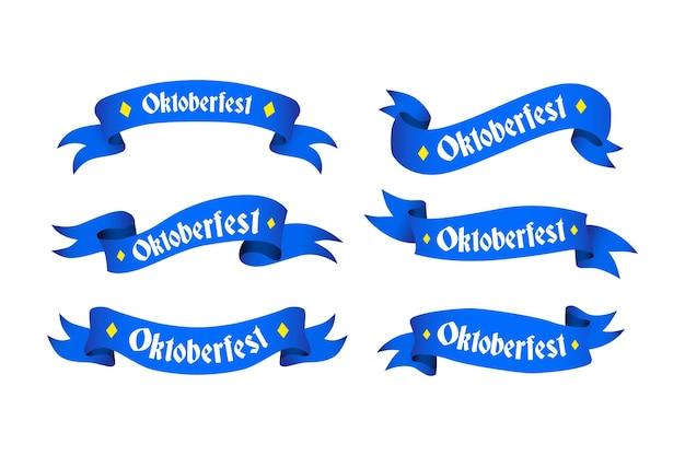Коллекция рисованной ленты октоберфест Бесплатные векторы