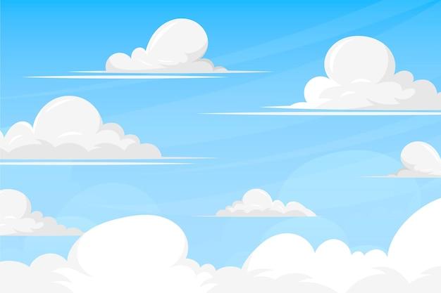 Небесный фон для видеоконференции Бесплатные векторы