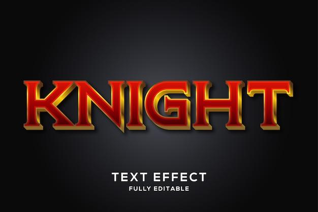 Эффект средневекового красного и золотого текста Premium векторы