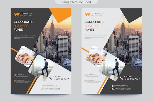 Современный бизнес флаер Premium векторы