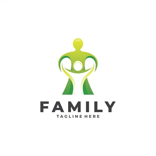 Аннотация люди люди родитель ребенок семья логотип Premium векторы