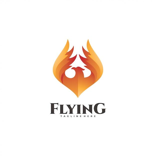 火の鳥のロゴタイプ Premiumベクター