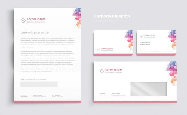 コーポレートビジネスアイデンティティのテンプレートデザインベクトル Premiumベクター