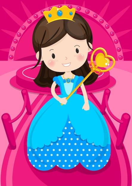 Персонаж принцесса Premium векторы