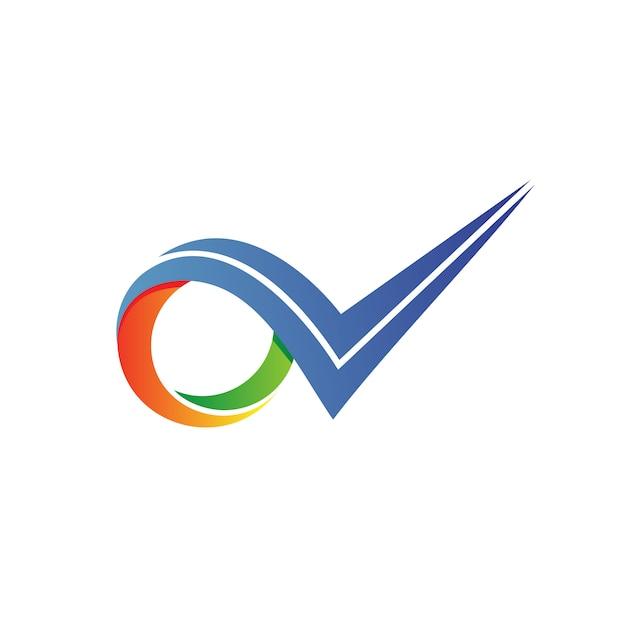 Контрольный список логотип вектор Premium векторы