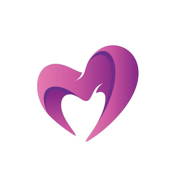 Любовь форма логотип вектор Premium векторы