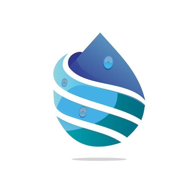 Логотип капли воды Premium векторы