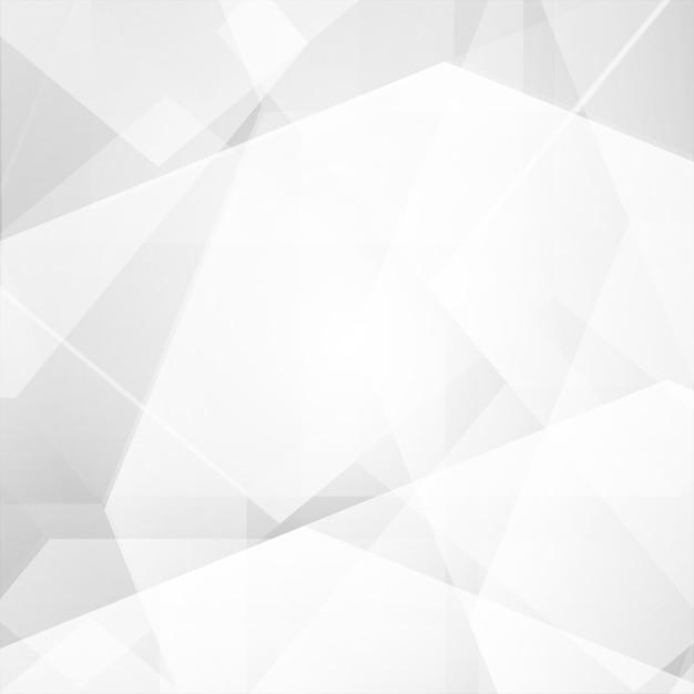 白と灰色の色のポリゴンの抽象的なベクトルの背景 Premiumベクター