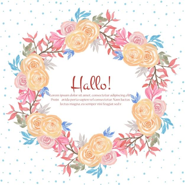 美しい花のフレーム Premiumベクター